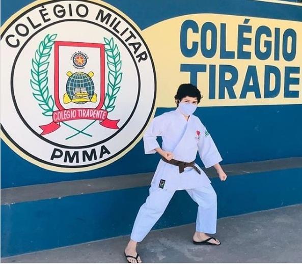 Aluno do Colégio Militar Tiradentes V/Timon é campeão de Karatê em GO