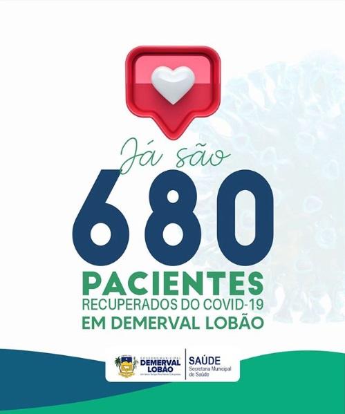 Demerval Lobão comemora a recuperação de 680 casos da Covid-19