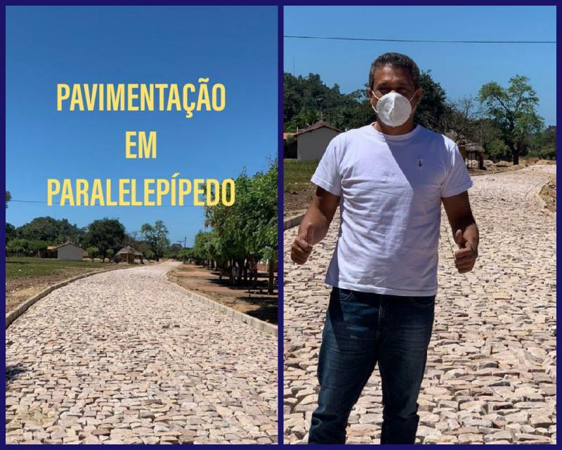 Pavimentação em paralelepípedo nas Vila São Francisco e Vila Carolina
