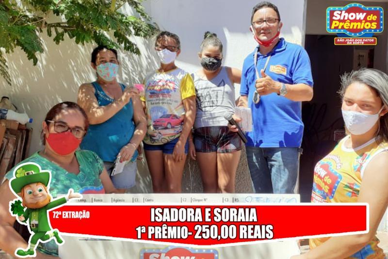 Ganhadores da 72° extração do show de prêmios São João dos Patos da sorte