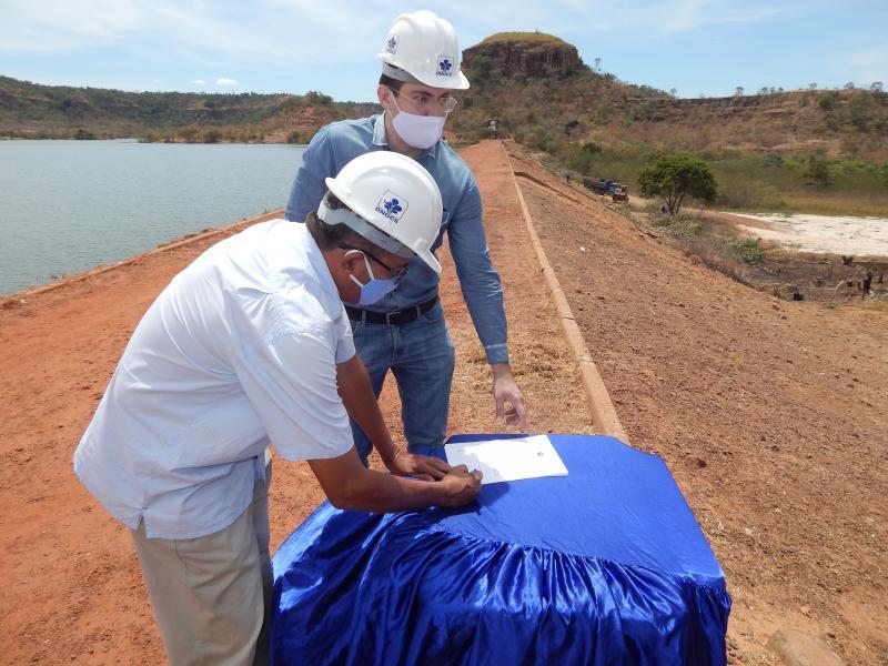 Assinada a ordem de serviço da reforma da Barragem/Beneditinos