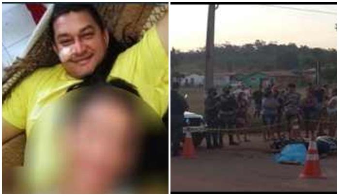 Itamar, a vítima fatal(de amarelo) e o local do acidente