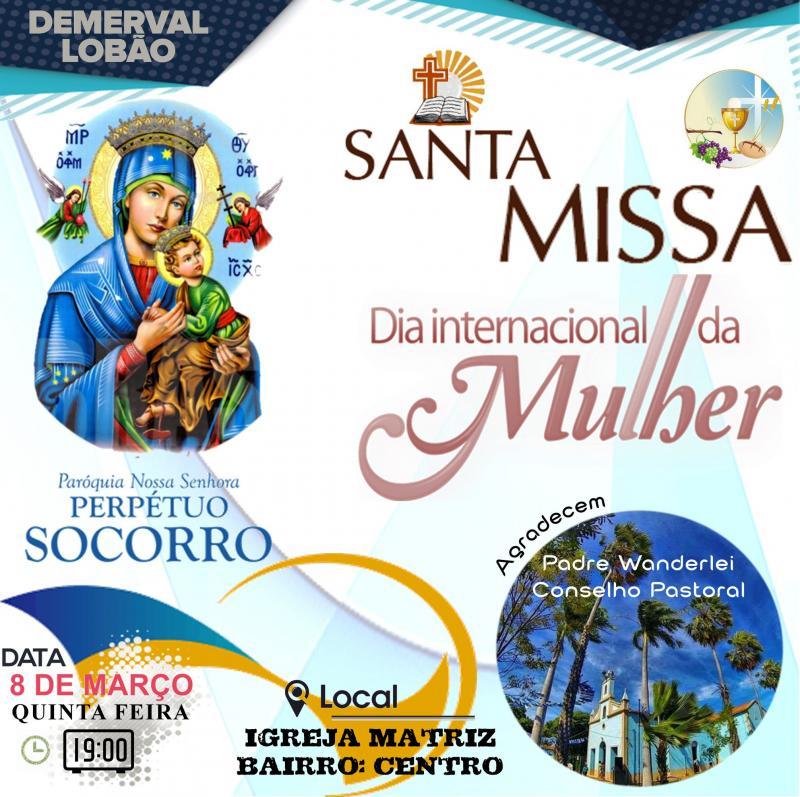 Padre Wanderlei e Conselho Pastoral de Demerval Lobão realizarão homenagem ao dia da mulher