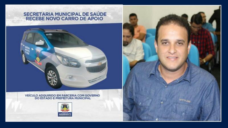 Prefeito Diego Teixeira adquire novo veículo para Secretaria de Saúde