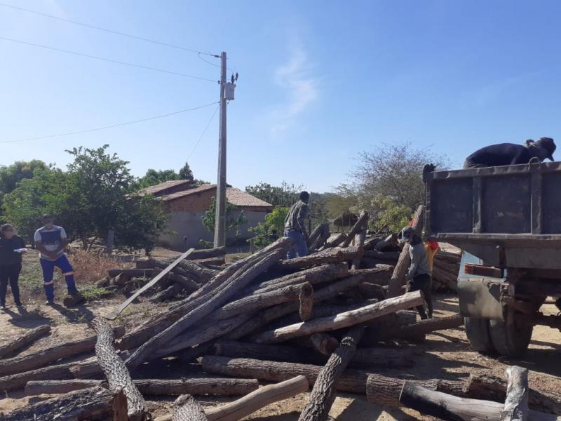 Grande quantidade de madeira ilegal é apreendida em Landri Sales