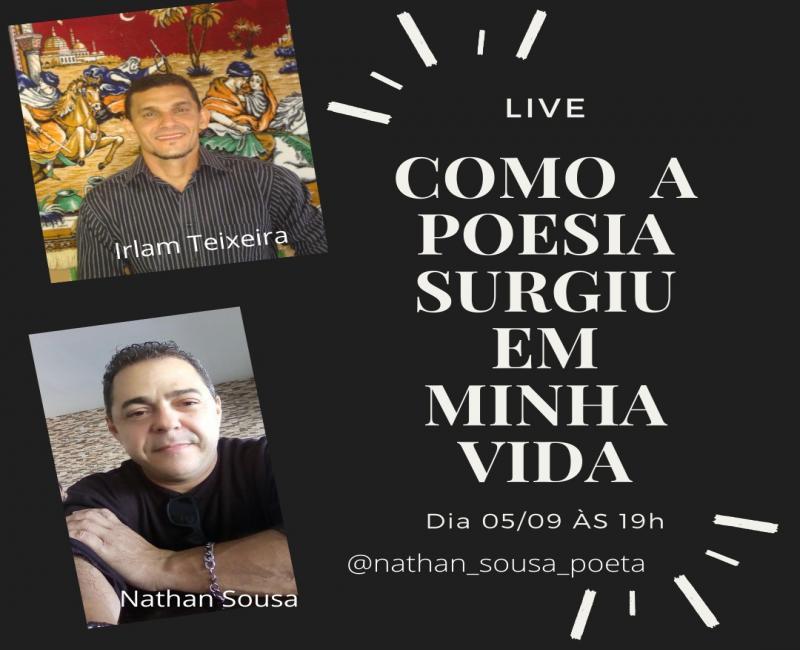 Live literária de Nathan Sousa e Irlam Teixeira- foto divulgação