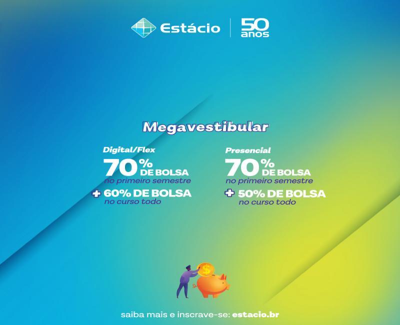 Megavestibular da Estácio Teresina vai conceder até 70% de desconto