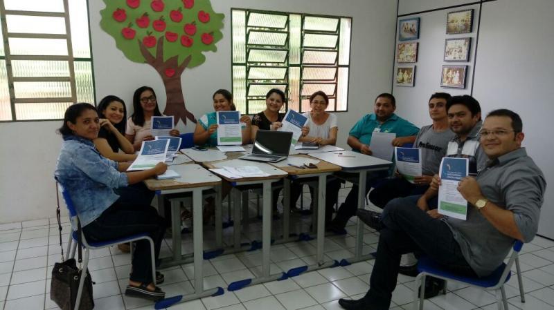 Secretário Municipal de Educação de Lagoinha do Piauí se reuni com coordenadores  e diretores
