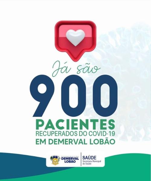 Demerval Lobão registra 900 pessoas recuperadas da Covid-19