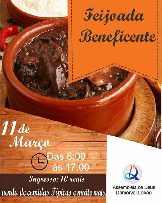 Assembléia de Deus de Demerval Lobão promove, domingo (11), feijoada beneficente e show de louvor
