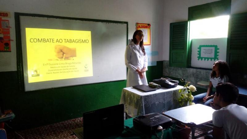 Atividade educativa sobre o combate ao tabagismo em Amarante