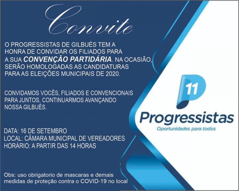 Progressistas de Gilbués marca sua convenção