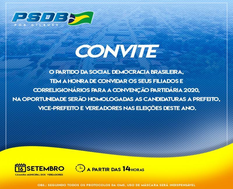 PSDB de Gilbués marca sua convenção