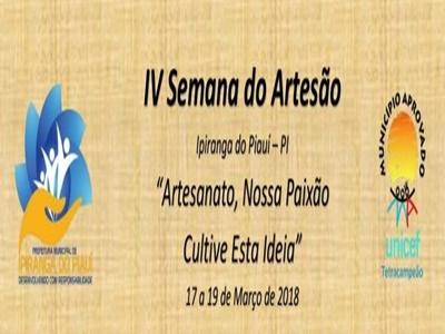 Anunciada a Programação da IV Semana do Artesão Ipiranguense