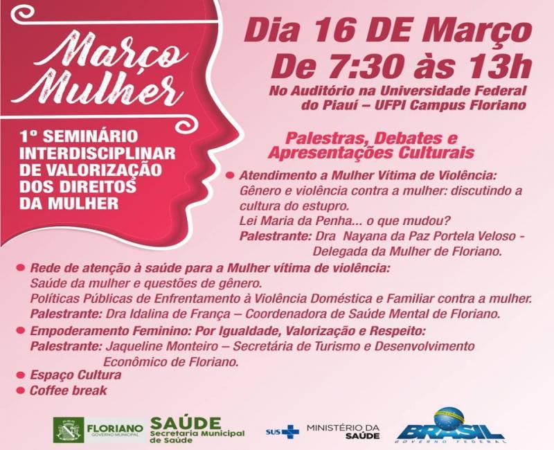 Secretaria de Saúde promove 1º Seminário Interdisciplinar de Valorização dos Direitos da Mulher