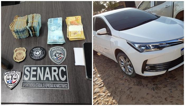 A polícia investiga, além do tráfico de drogas e associação para o tráfico, o enriquecimento ilícito das pessoas envolvidas no esquema.