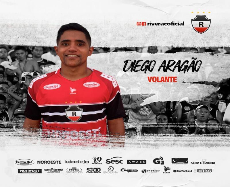 River anuncia reforço do volante Diego Aragão