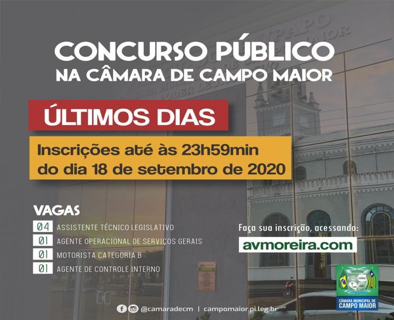 Inscrições do concurso da Câmara de Campo Maior encerram nesta sexta