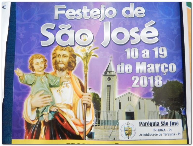 Participe do festejo de São José-De 10 a 19 de março