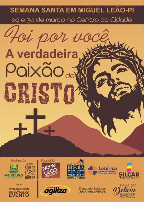 Confira a programação completa da Semana Santa em Miguel Leão