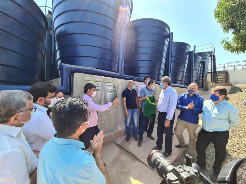 União/PI: governador inaugura obras de abastecimento e esgotamento