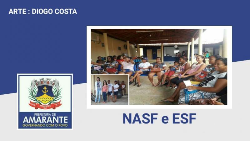 Equipes da NASF e ESF realizam palestra sobre período gestacional
