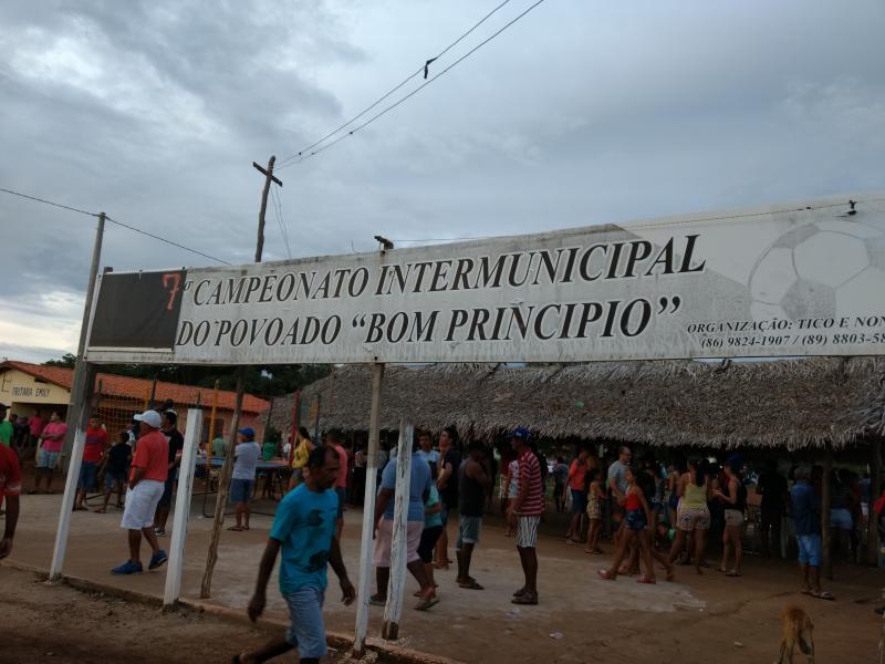 Resultado da 1ª rodada do Campeonato Intermunicipal no Povoado Bom Princípio, em Tanque-PI