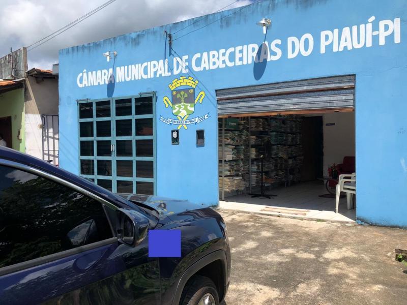 Sede da Câmara Municipal de Cabeceiras. (Foto: Reprodução).