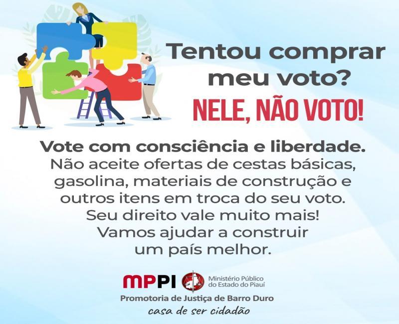 MP de Barro Duro lança campanha exclusiva contra corrupção eleitoral