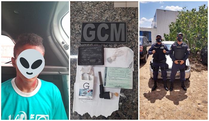 GCM/Timon recupera carro roubado e prende o acusado na posse de drogas