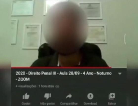 Vídeo: Professor de Direito Penal pede para aluna abrir câmera para vê-la nua