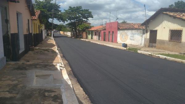 Matias Olímpio: Avenida principal recebe pavimentação