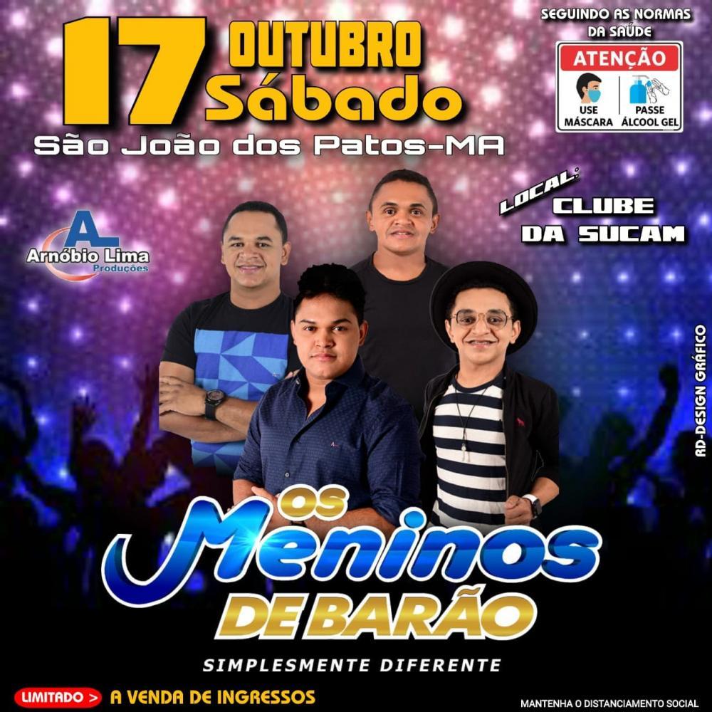 Dia 17 de outubro tem festa com os meninos de barão em São João dos Patos