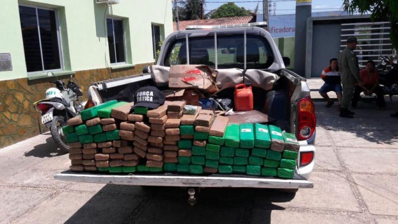 PM prende casal no Piauí com mais de 100 kg de droga vinda de Brasília