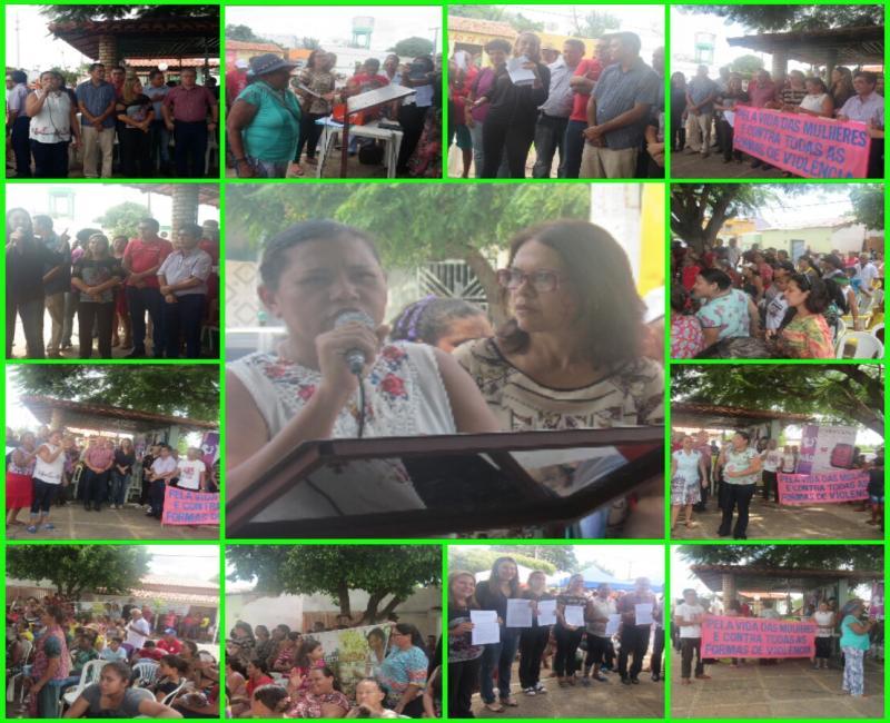 Ato contra a violência e em defesa dos direitos das mulheres, foi realizado em São João do Arraial