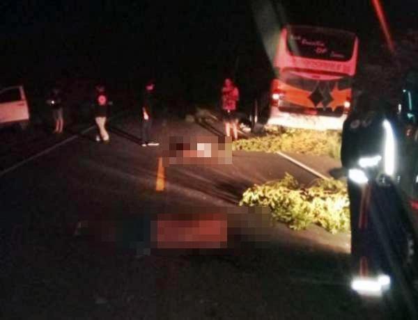 Acidente entre carro e ônibus da Transpiauí deixa dois mortos na PI 140