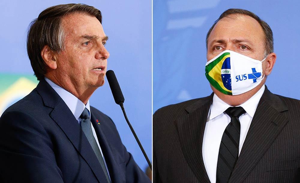 Guerra da vacina: o presidente Jair Bolsonaro desautoriza o ministro da Saúde, Eduardo Pazuello, e suspende a compra da chinesa CoronaVac
