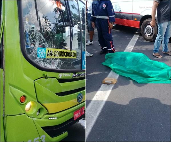 Ônibus atropela e mata pedestre na avenida Miguel Rosa em Teresina