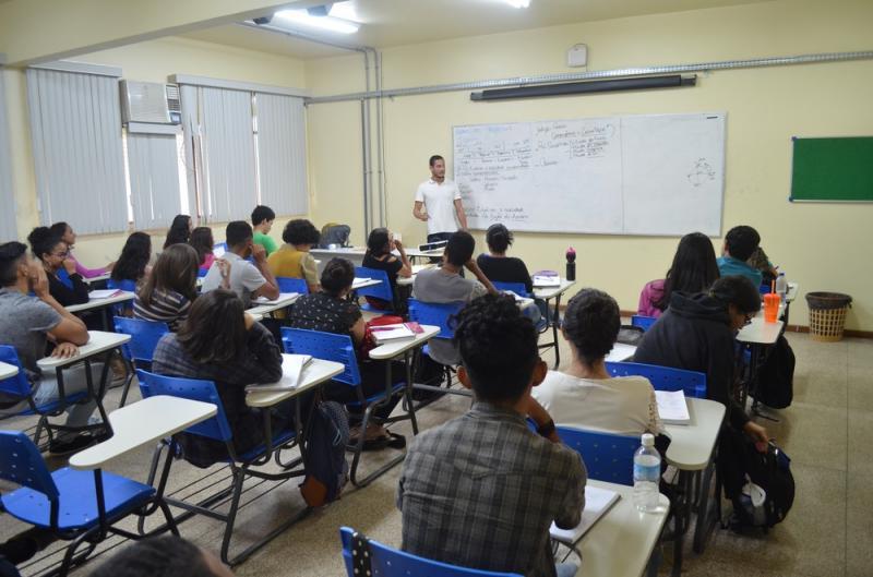 Preparatório gratuito para o Enem no Amapá (Foto: Rita Torrinha/G1)