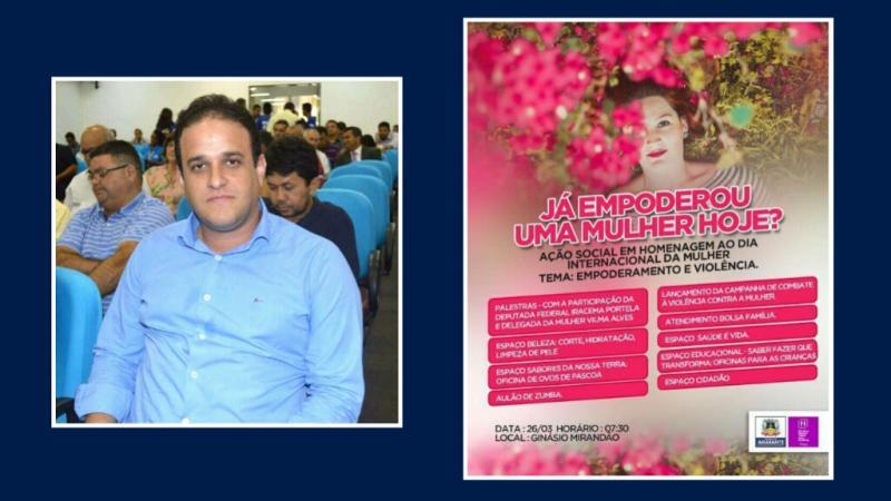 Prefeito Diego Teixeira convida mulheres de Amarante para evento especial