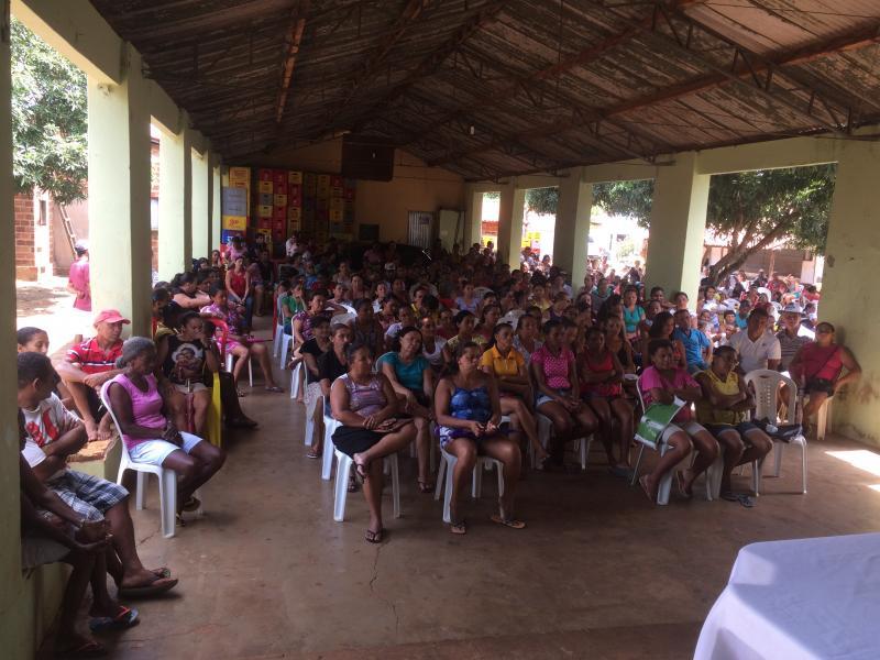 Secretaria de assistência social realizou palestra nesta quarta-feira com o pessoal do bolsa família