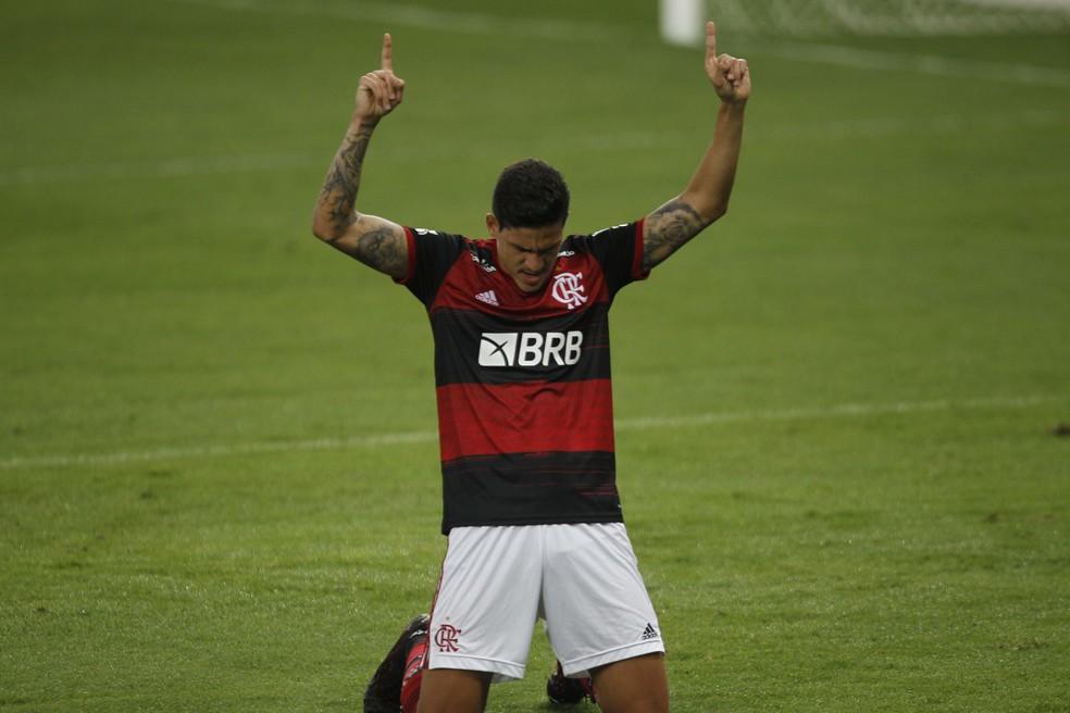 Pedro, atacante do Flamengo — Foto: André Durão