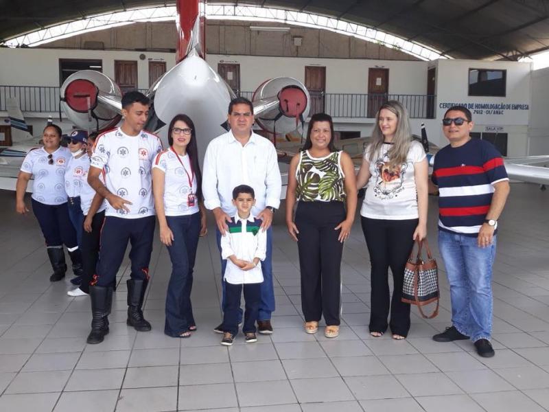 Demerval Lobão | prefeito e equipe do SAMU visitam a base do SAMU aéreo em Teresina
