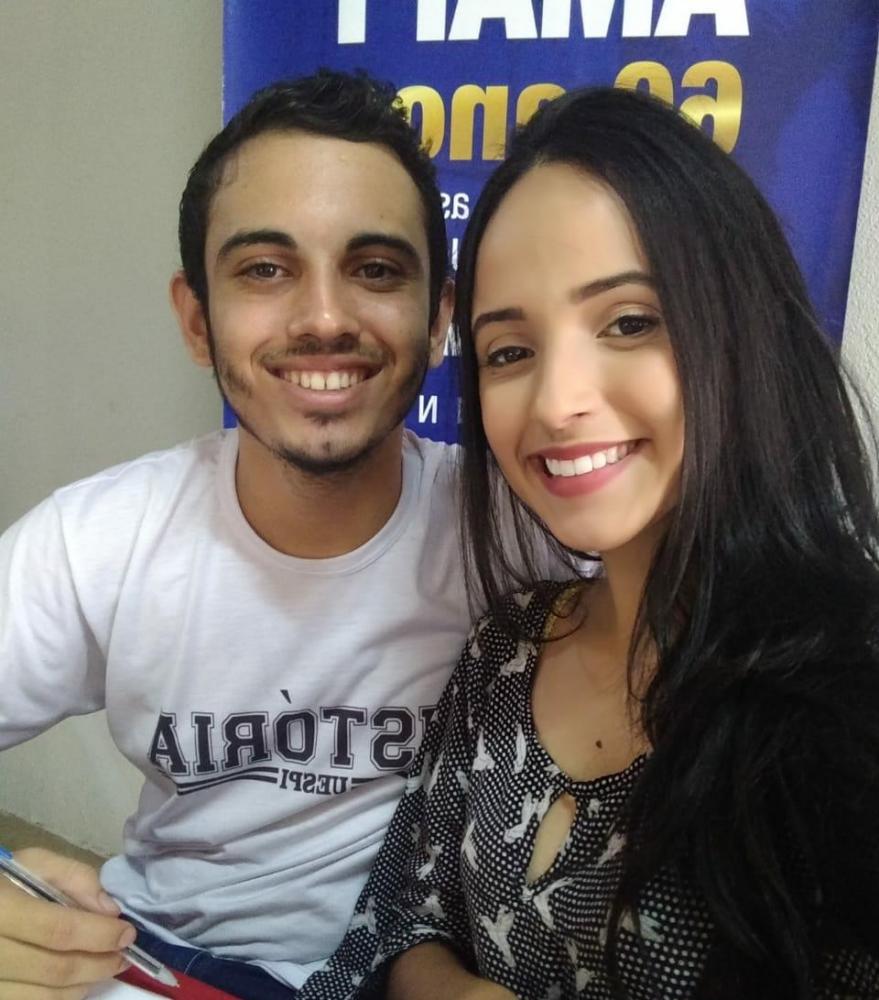 Alunos Arianny Dantas e Carlos Daniel - Foto: Divulgação