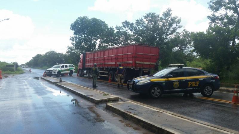 PRF apreende caminhão com 12 toneladas de madeira ilegal no Piauí