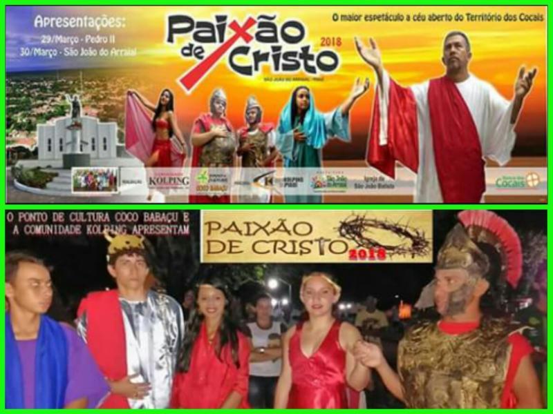 Espetáculo da Paixão de Cristo será apresentado na sexta feira santa, em São João do Arraial