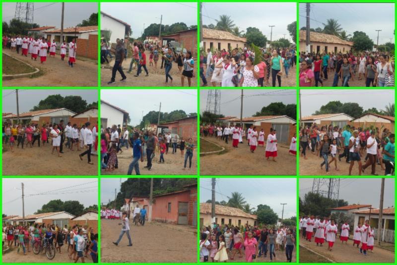 Igreja católica realizou procissão de Domingo de Ramos, em São João do Arraial