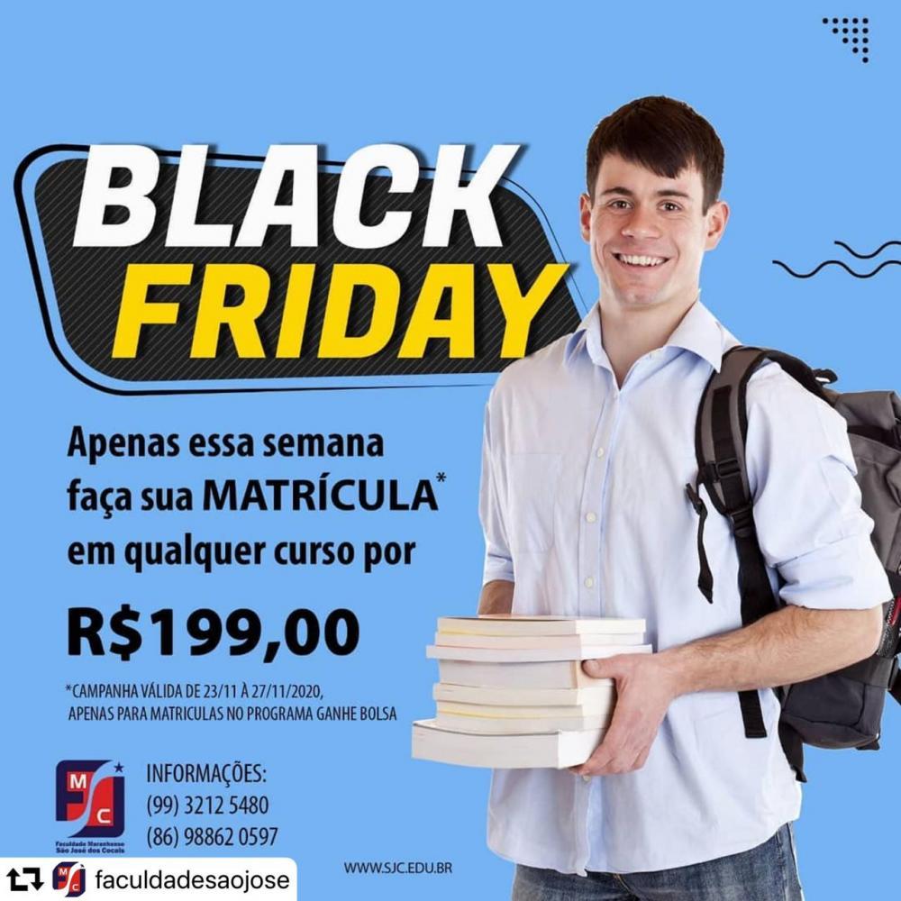 Black Friday de matrículas na Faculdade São José