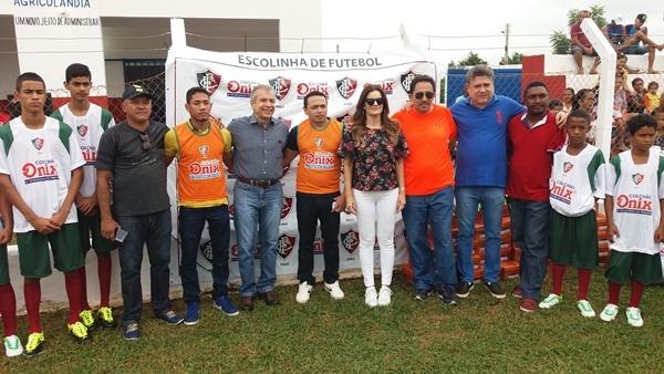 Escolinha de Futebol é lançada em Agricolândia com a presença de deputados e JVC. Confira