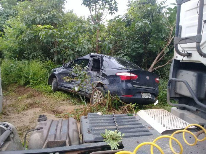 Vice-prefeito de município do Piauí sofre acidente na BR-135